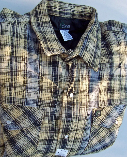 Flannel shirts quilt lined heavyweight work codet for Big and tall lined flannel shirts